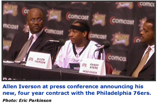 Allen Iverson at Press Conference